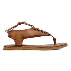 Musse & Cloud MItic lace up sandals leather size 9